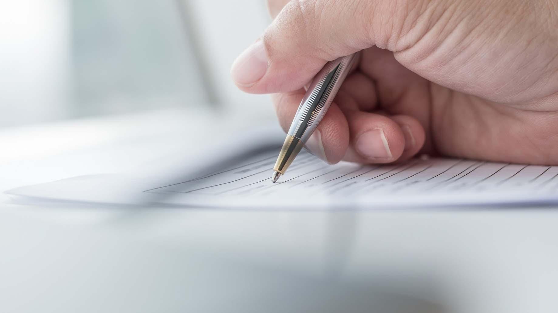 Anmeldung zur Eintragung
