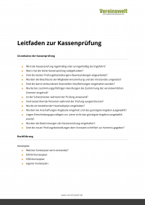 leitfaden zur kassenprfung - Rucktritt Vorstand Verein Muster