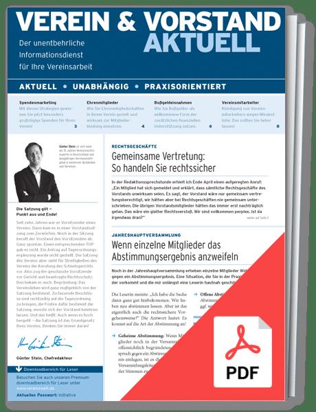 Verein & Vorstand aktuell – online
